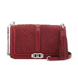 Rebecca Minkoff Love Quilted Turn-Lock Crossbody Bag, Tawny Port