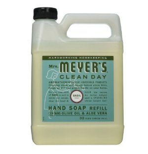 Lowest price #1 Best Seller! $3.60 Mrs. Meyers Liquid Hand Soap Refill, Basil Scent, 33 Oz