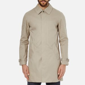 A.P.C. Men's Oxford Mac - Beige - Free UK Delivery over £50