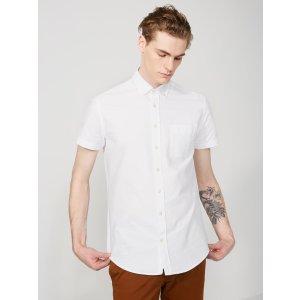 The Jasper Oxford Short-Sleeve Shirt in White | Frank + Oak