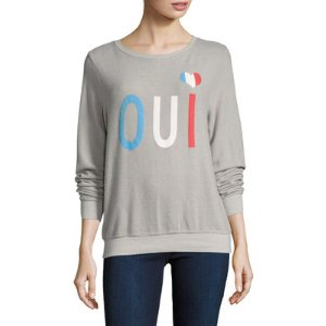 Wildfox Oui Colorblock Baggy Beach Sweater
