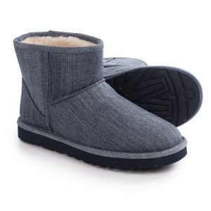 UGG® Australia Classic Mini Washed Denim Boots (For Men)