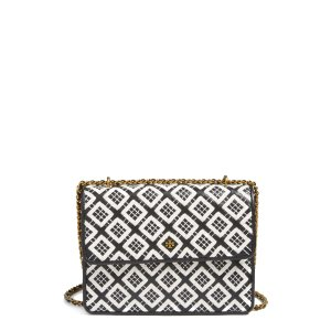 Tory Burch Robinson Woven Leather Convertible Shoulder Bag