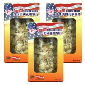 American Ginseng Slice M-S 3-Jar Bundle