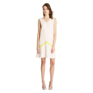 Double-Face Stretch-Wool Crepe Geometric Dress - Sale