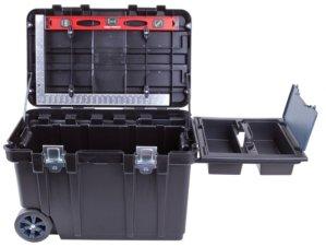 Blue Hawk 30.5-in Black Plastic Wheeled Tool Box