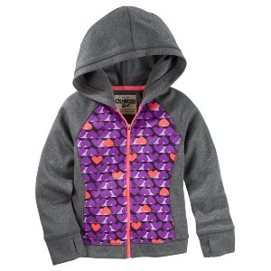 Toddler Girl Heart-Print Active Hoodie | OshKosh.com