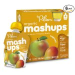 Plum Kids Organic Fruit Mashups, Tropical, 3.17 Ounce, 4 Count (Pack of 6)
