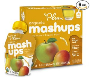 $8.82 Prime Member Only! Plum Kids Organic Fruit Mashups, Tropical, 3.17 Ounce, 4 Count (Pack of 6)