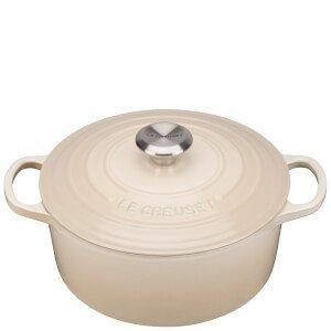 Le Creuset Signature Cast Iron Round Casserole Dish - 24cm - Almond Homeware | TheHut.com