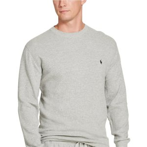 Waffle-knit Crewnck Thermal