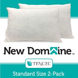 New Domaine Shredded Memory Foam Pillows with Tencel Cover - Standard Size 2-Pack