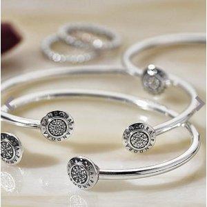 PANDORA Signature, Clear CZ | PANDORA Jewelry US