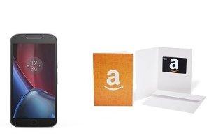 $249.99+$50 Gift Card Motorola Moto G4 Plus Unlocked Smartphone 16GB