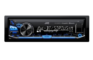 JVC - Built-in Bluetooth - Apple® iPod®- and Satellite Radio-Ready - In-Dash Receiver with Detachable Faceplate
