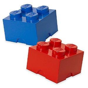 低至$11.19(原价$19.99)乐高LEGO经典方形积木颗粒形状收纳盒,红色或蓝色可选