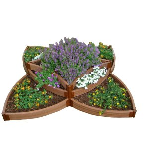 Frame It All Two Inch Series 8 ft. x 8 ft. x 16.5 in. Composite Versailles Sunburst Raised Garden Bed Kit-300001198 - The Home Depot