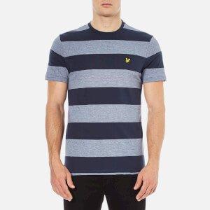 Lyle & Scott Men's Crew Neck Wide Stripe T-Shirt - Navy Clothing   TheHut.com