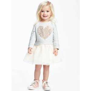 2-in-1 Foil-Heart Graphic Tutu Dress for Toddler | Old Navy