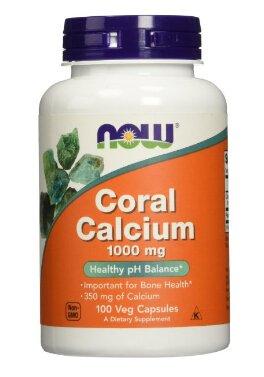 NOW Foods Coral Calcium, 100 Capsules / 1000mg