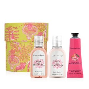 Pear and Pink Magnolia Hatbox Gift Set