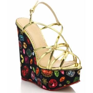 Charlotte Olympia 坡跟宝石凉鞋