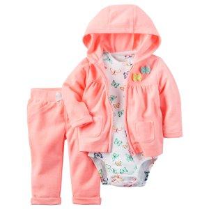 Baby Girl 3-Piece Neon Little Jacket Set | Carters.com