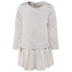 Chloé Cream Jacquard Layered Dress | AlexandAlexa