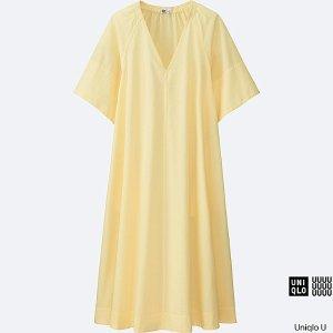 WOMEN U SEERSUCKER SHORT-SLEEVE DRESS | UNIQLO US