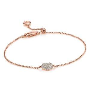 NURA MINI HEART BRACELET 18ct Rose Gold Vermeil on Sterling Silver