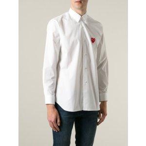 Comme Des Garçons Play Embroidered Heart Shirt