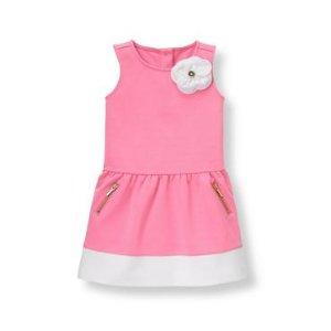 Preppy Pink Colorblock Ponte Dress at JanieandJack