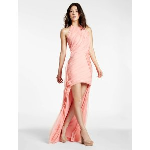 Chiffon Strips Hi Lo Gown