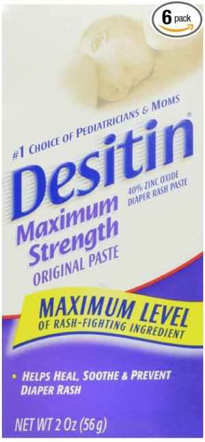 $11.95 Desitin Diaper Rash Paste Maximum Strength, 2-Ounce (Pack of 6)
