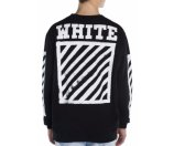 Off-White Cotton Blend Long Sleeve Pullover
