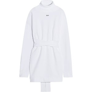 OFF-WHITE Backless cotton-jersey turtleneck sweatshirt