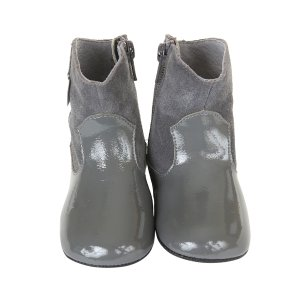 Clementine Mini Shoez Baby Shoes, Pewter | Robeez