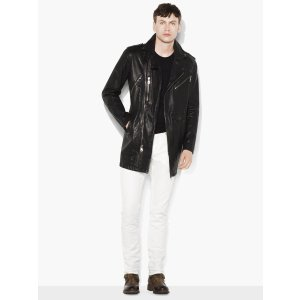 Leather Biker Coat - John Varvatos
