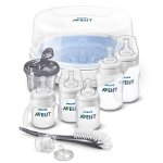 hilips AVENT Anti-Colic Bottle Essentials Newborn Starter Set, Clear