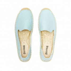 Soludos Canal Blue Platform Smoking Slipper for Women - Soludos Espadrilles