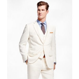 Fitzgerald Fit Three-Piece Linen Suit - Brooks Brothers