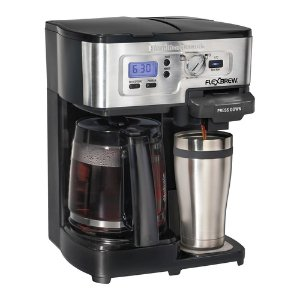 Hamilton Beach 2-Way FlexBrew 12-Cup Coffeemaker and K-Cup Single Serve Brewer Refurbished