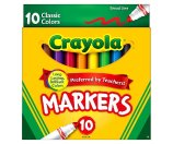 Crayola® Markers, Broad Line, 10ct