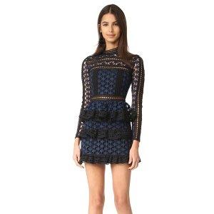 Self Portrait High Neck Star Lace Dress | SHOPBOP