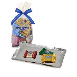 Godinger Statement Gift Tray with 80ct SQUARES Gift Bag
