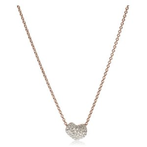 NURA MINI HEART NECKLACE 18ct Rose Gold Vermeil on Sterling Silver