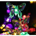 Qedertek 40 LED Multi-Color Butterfly Christmas Lights