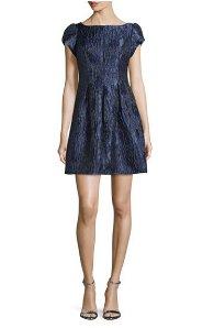 $54.67(reg.$220) Aidan Mattox Cap-Sleeve Textured Cocktail Dress