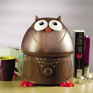 $24.85(reg.$49.99) Crane Adorable Ultrasonic Cool Mist Humidifier with 2.1 Gallon Output per Day - Owl