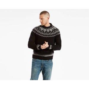 Wool Fair Isle Crew Sweater | Black |Levi's® United States (US)